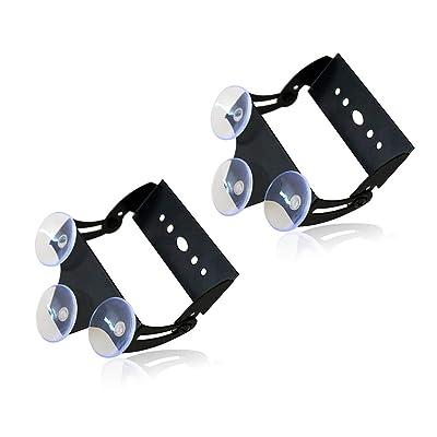 "Xprite Adjustable Suction Cups Holder Bracket for 18"" 27"" 31.5"" 35.5 Inch LED Emergency Traffic Advisor Strobe Light Bar - 2 Packs: Automotive"