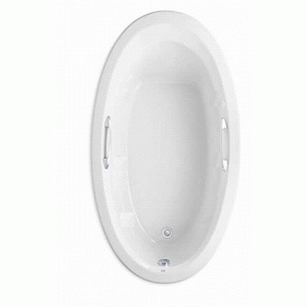 American Standard 2709.002.020 Ellisse Oval Bath Tub, Pre-Drilled for Grab Bar Kit, White