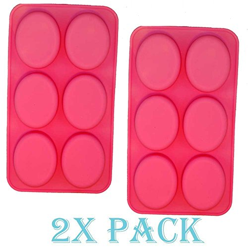 Oval Silicone (2 pack X Oval Shape Homemade Soap Mold Chocolate DIY Tray Mould Silicone Party maker (Ships From USA))