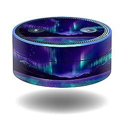 MightySkins Protective Vinyl Skin Decal for Amazon Echo Dot (1st Generation) wrap cover sticker skins Aurora Borealis