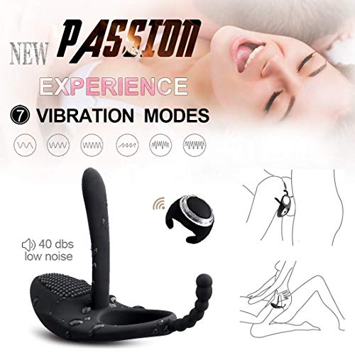 Price comparison product image Men's Power Toy Strong Vibration Delay Ring Silicone Massage Ring