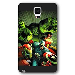 UniqueBox Customized Marvel Series Case for Samsung Galaxy Note 4, Marvel Comic Hero The Avengers Samsung Galaxy Note 4 Case, Only Fit for Samsung Galaxy Note 4 (Black Frosted Case) Kimberly Kurzendoerfer