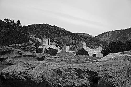 Painet Inc Limited Edition 13x19 inch fine-Art Photograph on 100% Cotton Paper: San José de Giusewa Church and Convento, Jemez Historic Site, New Mexico, September 21, 2015 ()