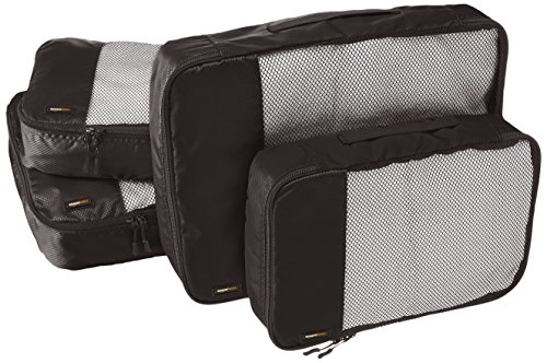 AmazonBasics Packing Cubes - 4 Piece Sets