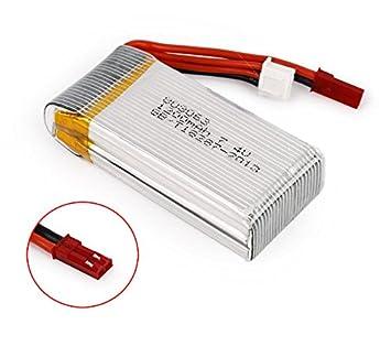 EX1 7,4V 1200mAh LiPo Batería para MJX X101/JJRC H16/YiZhan ...