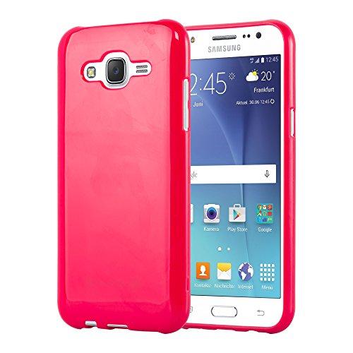 Cadorabo - Cubierta protectora para Samsung Galaxy J5 (Modelo 2015) de silicona TPU en Diseño Jelly - Case Cover Funda Carcasa Protección Jalea en JELLY-VERDE JELLY-ROJO