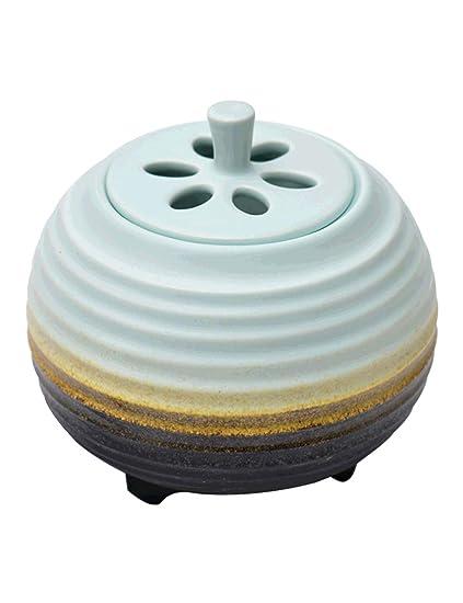 Quemador de Incienso sin Humo de cerámica - Temporizador de Temperatura Ajustable de Oficina - Agarwood