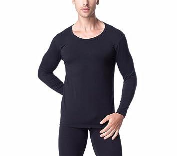 YMFIE El otoño y el invierno suave y confortable ropa interior térmica de Hombres camiseta de