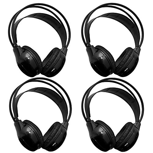 [4 Pack] AUTOTAIN Car Headrest Audio Universal Wireless IR
