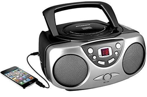 Sylvania SRCD243M Black Portable CD Radio