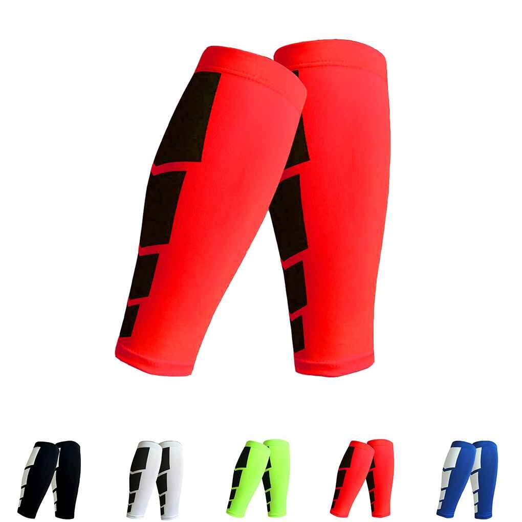 Mengonee 1pc Stretch Calf Compression Sleeves Leg Support Chaussettes Longues pour Sports Gym Cycling