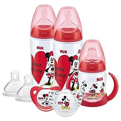NUK Disney - Juego de biberón, chupete y taza para beber, 6 ...