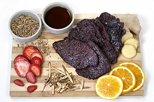 Asian Fusion Spicy Fruit Flavored Beef Jerky: Made to Order Premium Snack (4 (Asian Beef)