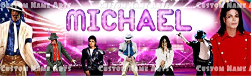 Personalized Michael Jackson Banner Birthday Poster Custom Name Painting Wall Art Decor ()