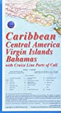 Caribbean Map with Cruise Lines Ports of Call (Kasprowski)