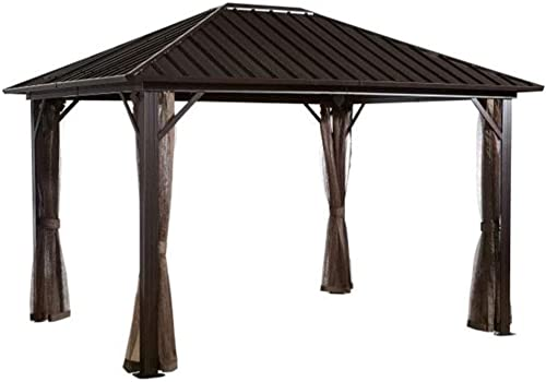 Sojag 500-8162585 Dakota Sun Shelter, 10 x 10 , Dark Brown