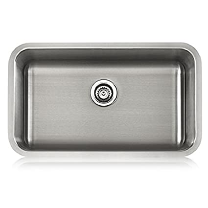 Lenova Big Single 16 Gauge Undermount Stainless Steel Kitchen Sink on kitchens with blanco sinks, granite undermount kitchen sinks, stainless steel undermount kitchen sinks, kitchens with antique sinks, kitchens with black sinks, ceramic kitchen sinks, kitchens with farmhouse sinks, kitchens with copper sinks, granite countertops undermount sinks, kitchens with stainless steel sinks, kitchens with corner sinks, kitchens with designer sinks, porcelain undermount sinks, kitchens with drop in sinks, kitchens with farm style sinks, kitchens with recessed sinks, kitchens with composite sinks, kitchens with prep sinks, kitchens with double sinks, blanco undermount kitchen sinks,