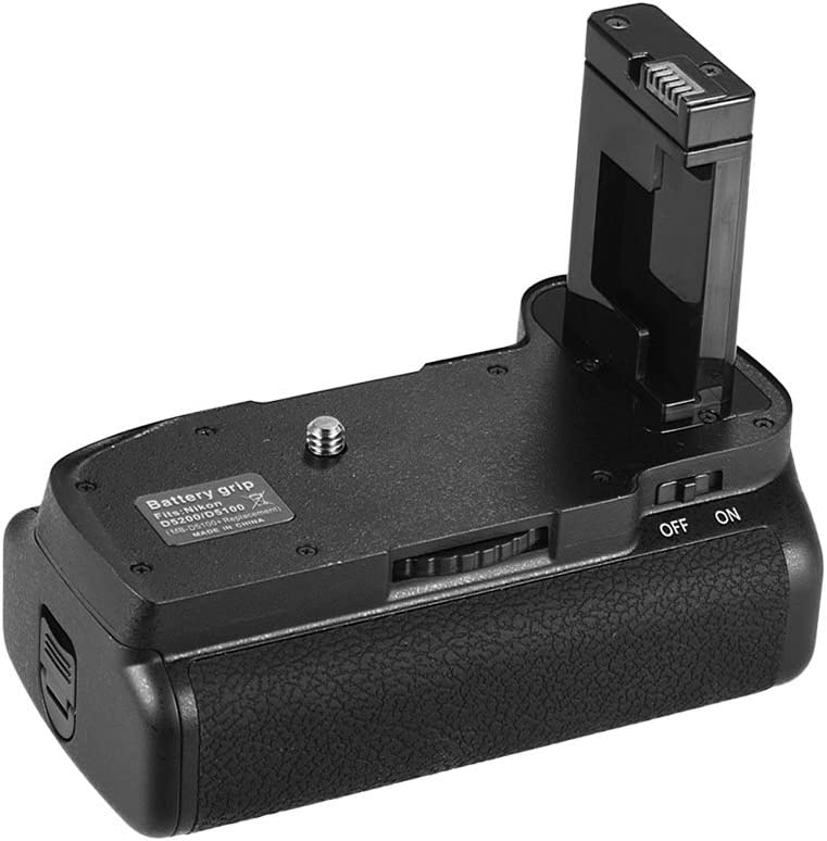Andoer Vertical Battery Grip Holder for Nikon D5100 D5200 DSLR Camera EN-EL 14 Battery Powered with IR Remote Control