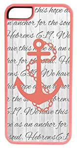 iPhone 5c Case, CellPowerCasesTM Hope as an Anchor Bible Verse ChromaLuxe Pink Case for iPhone 5c [5c V2 Pink Case]