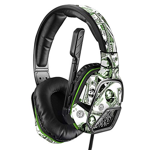 MightySkins Skin Compatible with PDP Xbox One Afterglow LVL 3 Headset - Phat Cash | Protective, Durable, and Unique Vinyl Decal wrap Cover | Easy to Apply, Remove, and Change Styles | Made in The USA