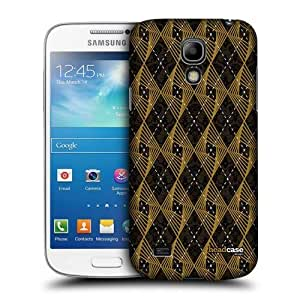 Mustard Argyle Whirls Back Case For Samsung Galaxy S4 Mini I9190 I9192