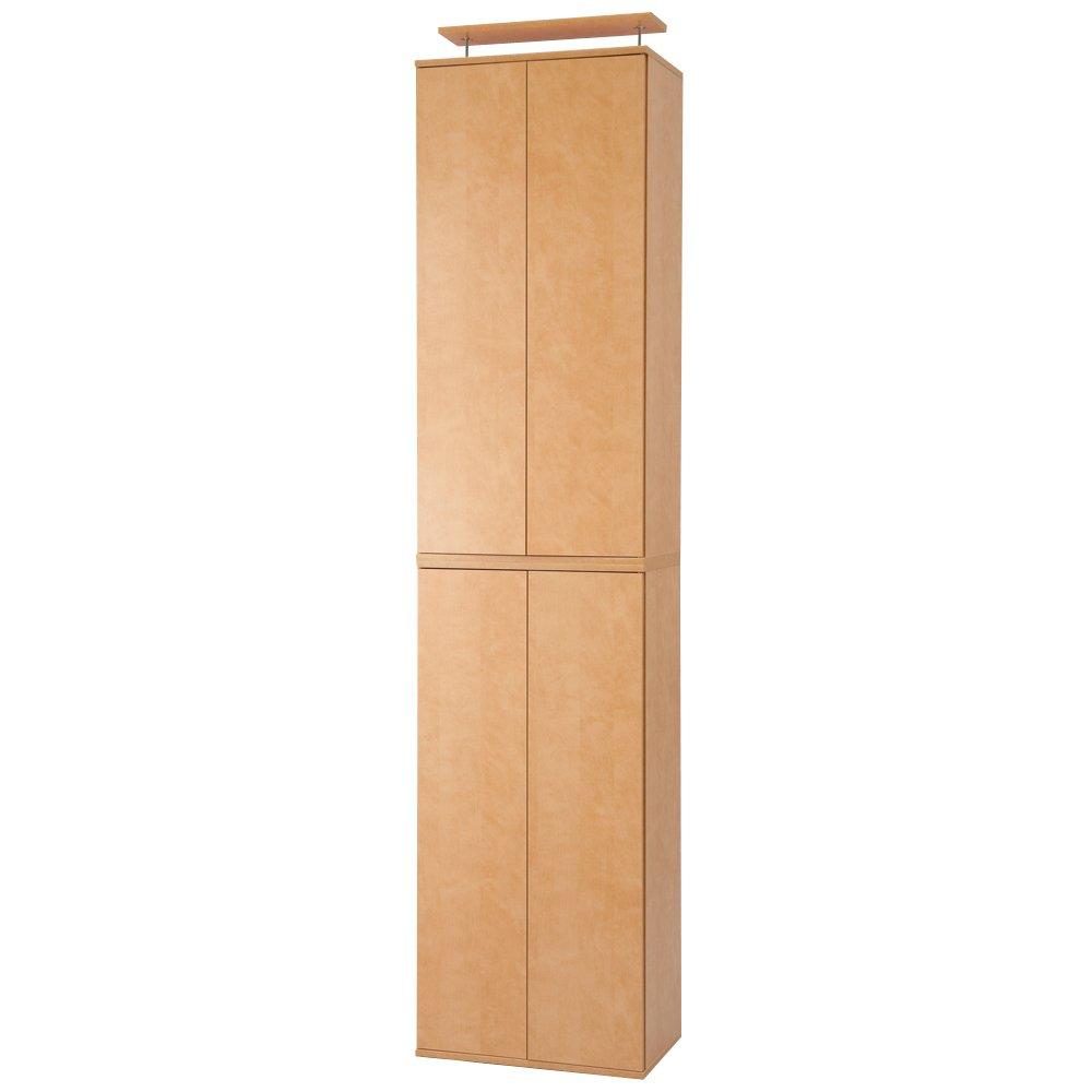 並べても使える 突っ張り式ユニットシューズボックス 天井高さ264~274cm用幅45cm[紳士靴対応] 513518(サイズはありません イ:ライトブラウン) B079BGV814イ:ライトブラウン