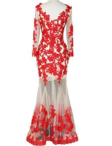 JAEDEN - Vestido - para mujer Rosso