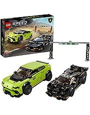 LEGO 76899 Speed Champions Lamborghini Urus ST-X & Lamborghini Huracán Super Trofeo EVO, Racewagens Speelgoed voor Kinderen van 8 Jaar