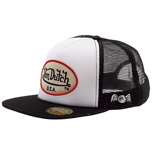 Von Dutch Men's OG Patch Tan/So Cal White Trucker Cap Hat (One Size Fits Most)
