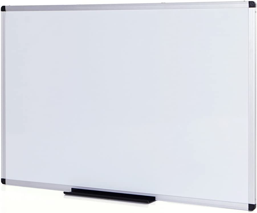 VIZ-PRO Magnetic Dry Erase Board, 48 X 36 Inches, Silver Aluminium Frame