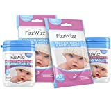 FizzWizz All-Natural Cleaning Tablets for Baby Bottle/Sippy Cup and Pacifier Wipes (2 Sets) On-The-Go Cleaning Solution