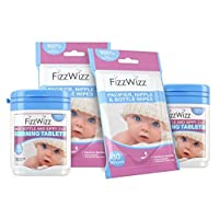 All-Natural Cleaning Tablets for Baby Bottle/Sippy Cup and Pacifier Wipes (2 Sets...
