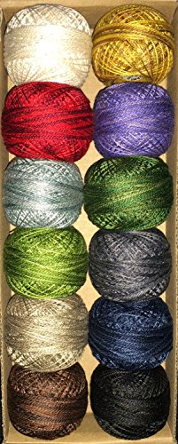 Valdani Perle Cotton Size 12 Thread Essentials #1 Patch Abilities Julie Wurzer (Hand Dyed Wool Threads)