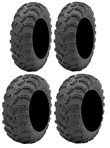 Full set of ITP Mud Lite (6ply) 25x8-12 and 25x10-12 ATV Tires (Atv Tires 25x9x12)