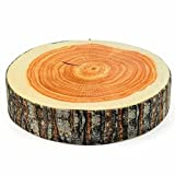 Canghai Creative 3D Print Wood Design Comfortable Neck Sleeping Throw Pillow Cushion Log Decorative Cushion H05