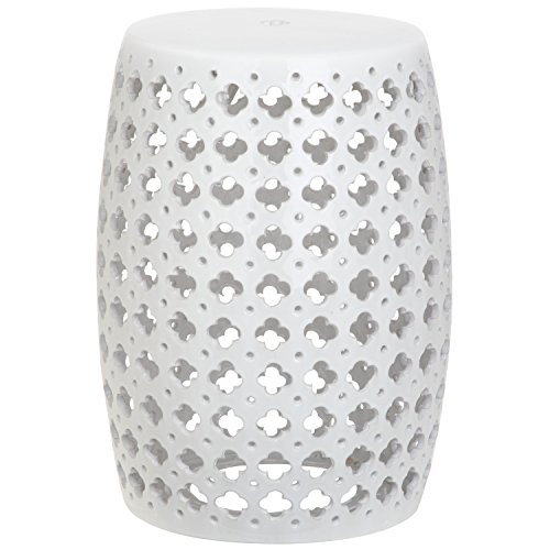 Safavieh Castle Gardens Collection Lacey White Glazed Ceramic Garden Stool Review