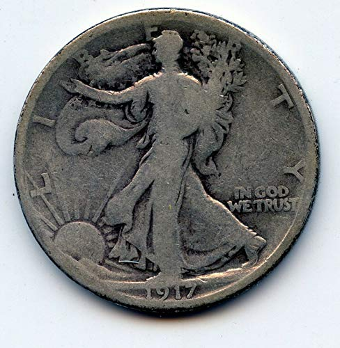 1917 D Walking Liberty 90% Silver - Half Dollar Full Good or Better - Full Date and Motto - US Mint