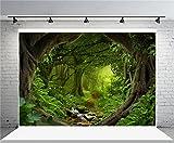 AOFOTO 7x5ft Dreamlike Forest Backdrop Trees Path Stream Photography Background Kid Girl Adult Artistic Portrait Fairy Tale Scenic Photo Shoot Studio Props Video Drop Vinyl Wallpaper Drape