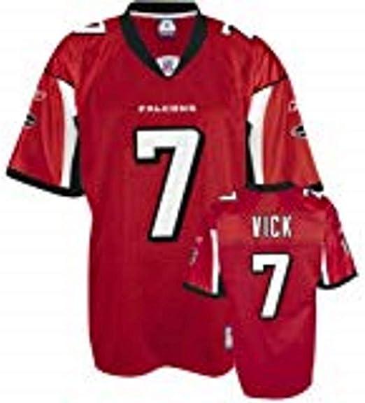Amazon.com : Reebok Michael Vick Red NFL Replica Atlanta Falcons ...
