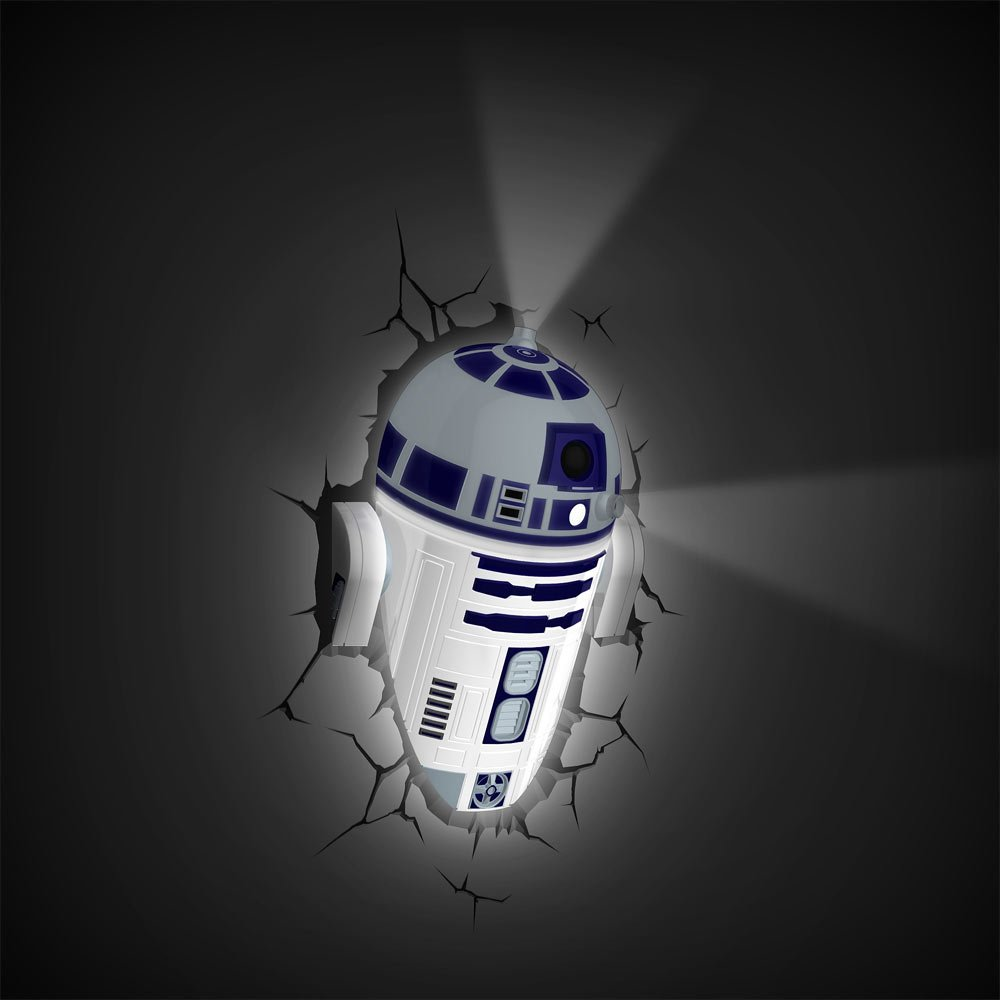 Amazon star wars r2 d2 3d deco light toys games aloadofball Image collections