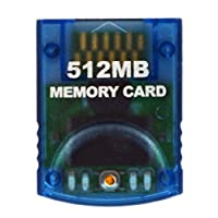 Tarjeta de memoria HDE para Nintendo GameCube 512MB (8192 bloques) para Nintendo GameCube o consolas Wii (Borrar)