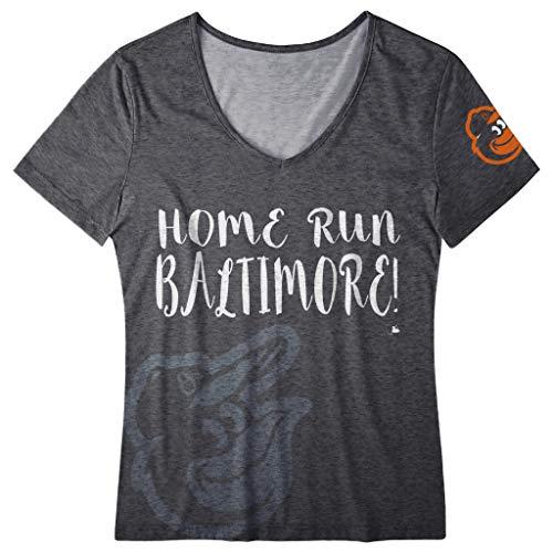 Baltimore Orioles Tee - FOCO MLB Women's Home Run V-Neck Tee, Baltimore Orioles X-Large