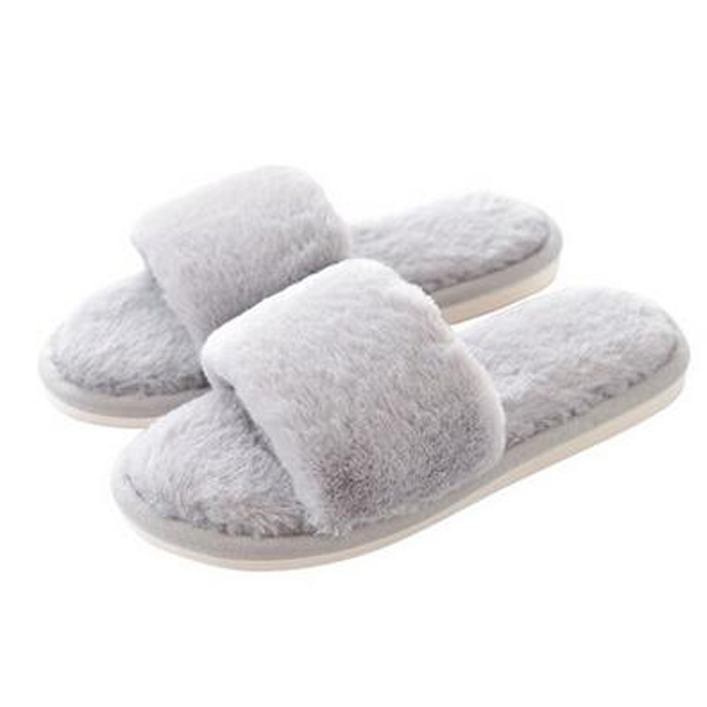 Fashion Ladies Winter Warm & Cozy Indoor Shoes Skidproof House Slipper, Gray Kylin Express