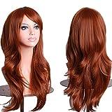 Outop Women's Hair Wig Long Big Wavy Hair Heat Resistant Wig (Brown)