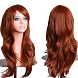 "28"" Long Heat Resistant Big Wavy Cosplay Wig Brown"