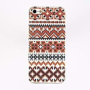 Mini - Punk National Wind Streaks Irregular Box Pattern TPU Soft Case for iPhone 4/4S , Color: Multicolor