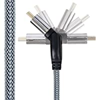 10' Pivoting 4k HDMI Cable For Right Angles - Supports 4k & UltraHD With Speeds Up to 18 Gbps - Get Flawless Sound With 32 Audio Channels - Braided For Durability