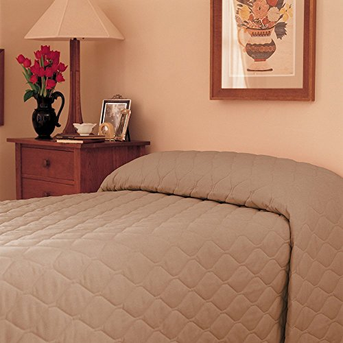 Martex 1C75846 71-Inch x 102-Inch Bedspread, Twin Fitted, Khaki, 1-Pack