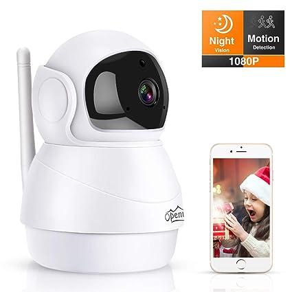 Openuye Camaras de Vigilancia WiFi Interior, 1080P Cámara IP WiFi FHD con Visión Nocturna,