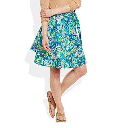 Womens Dress Cotton Printed Wrap Around Beach Sarong Skirt A Line,Large,W-CWSL-2916